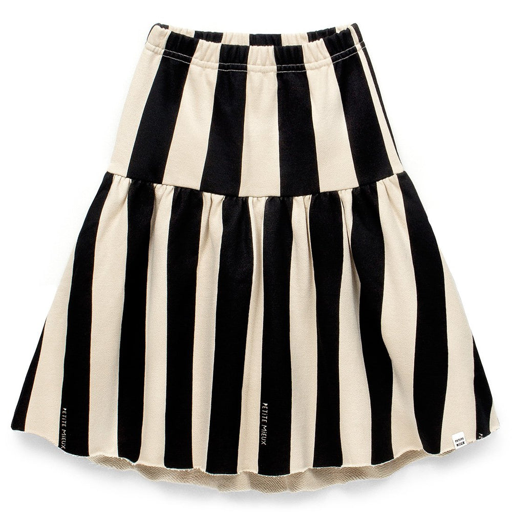 Girls Awning Stripe Unbalanced Skirt
