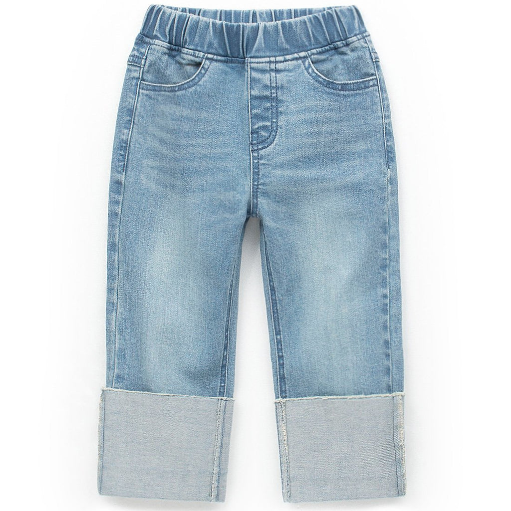 Unisex Roll-Up Denim Pants