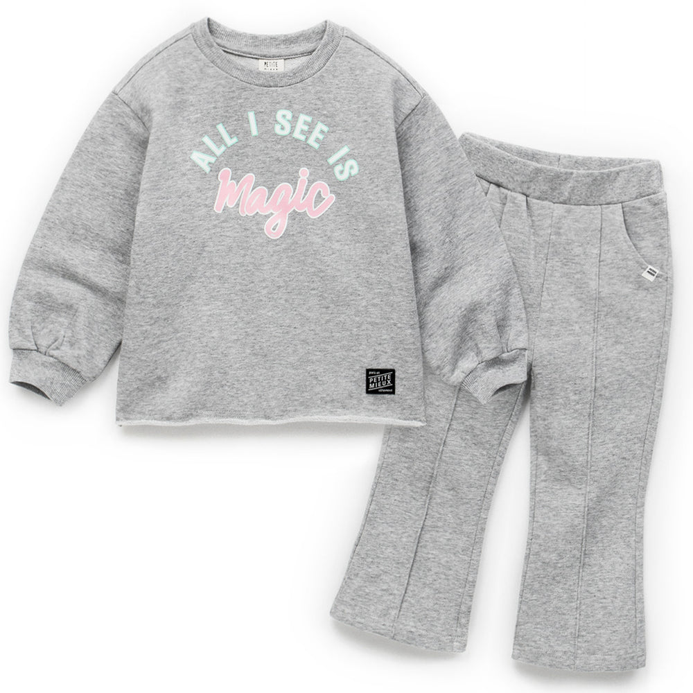 Girls Miracle Line Top & Bottom Set