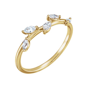 Diamond 5 Leaf Ring