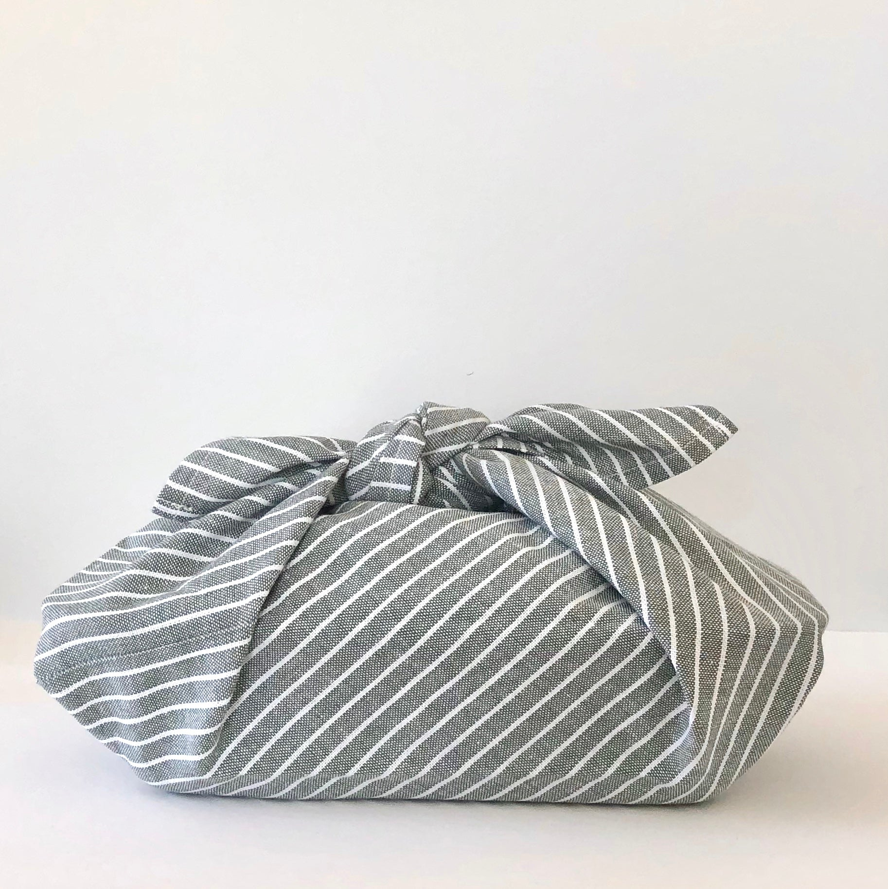 Sage Striped, Bento Bag