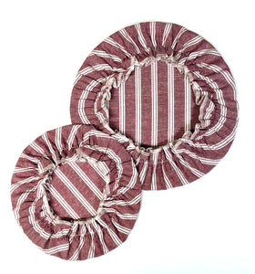 Striped Red, Bowl Cover