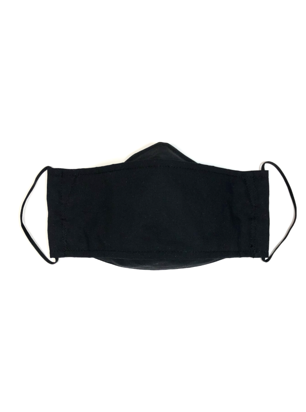 Black, Child's Reusable Face Mask [2-layers]
