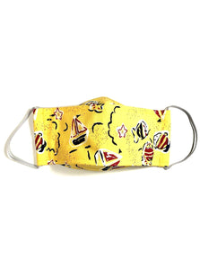 Yellow Fish & Boats, Child's Reusable Face Masks [2-layers]