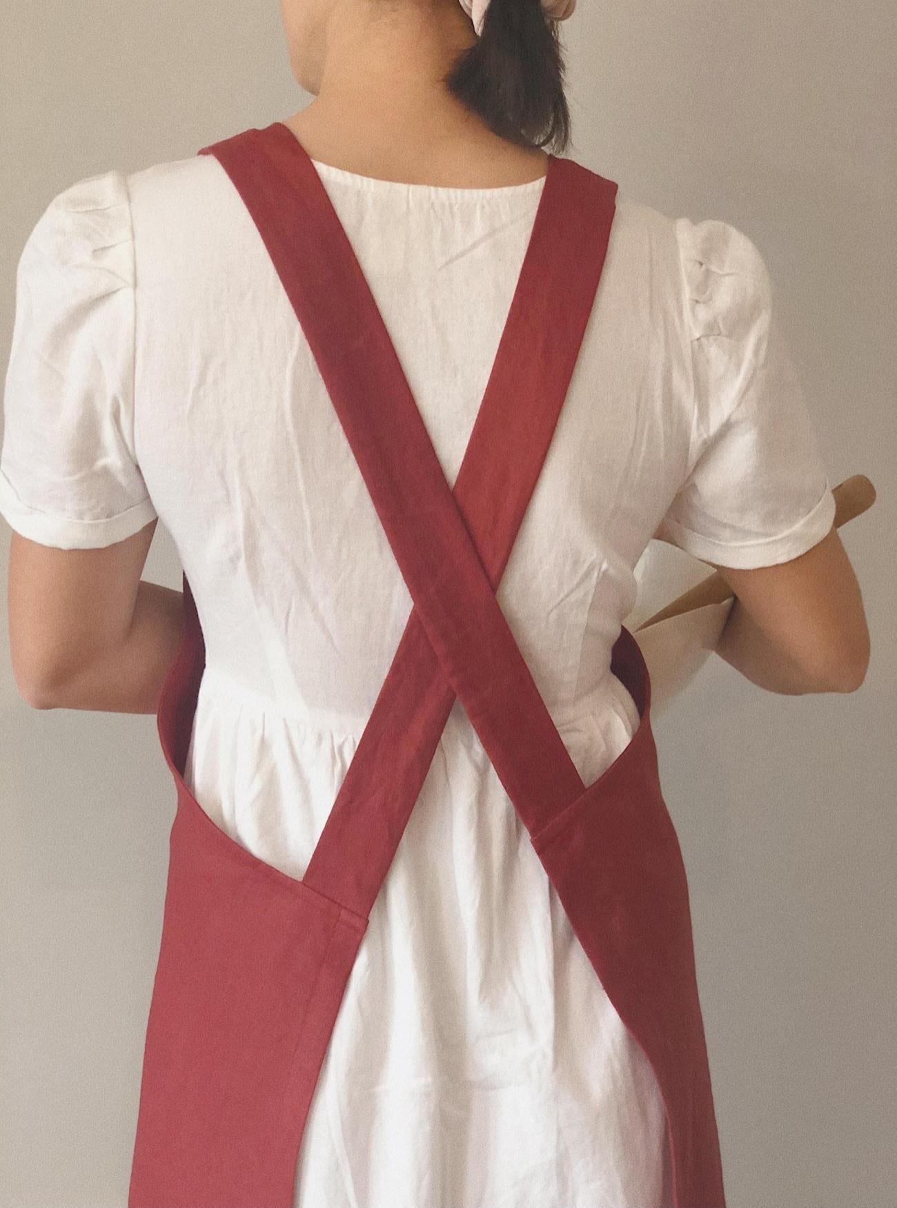 Merlot Red, Japanese Apron