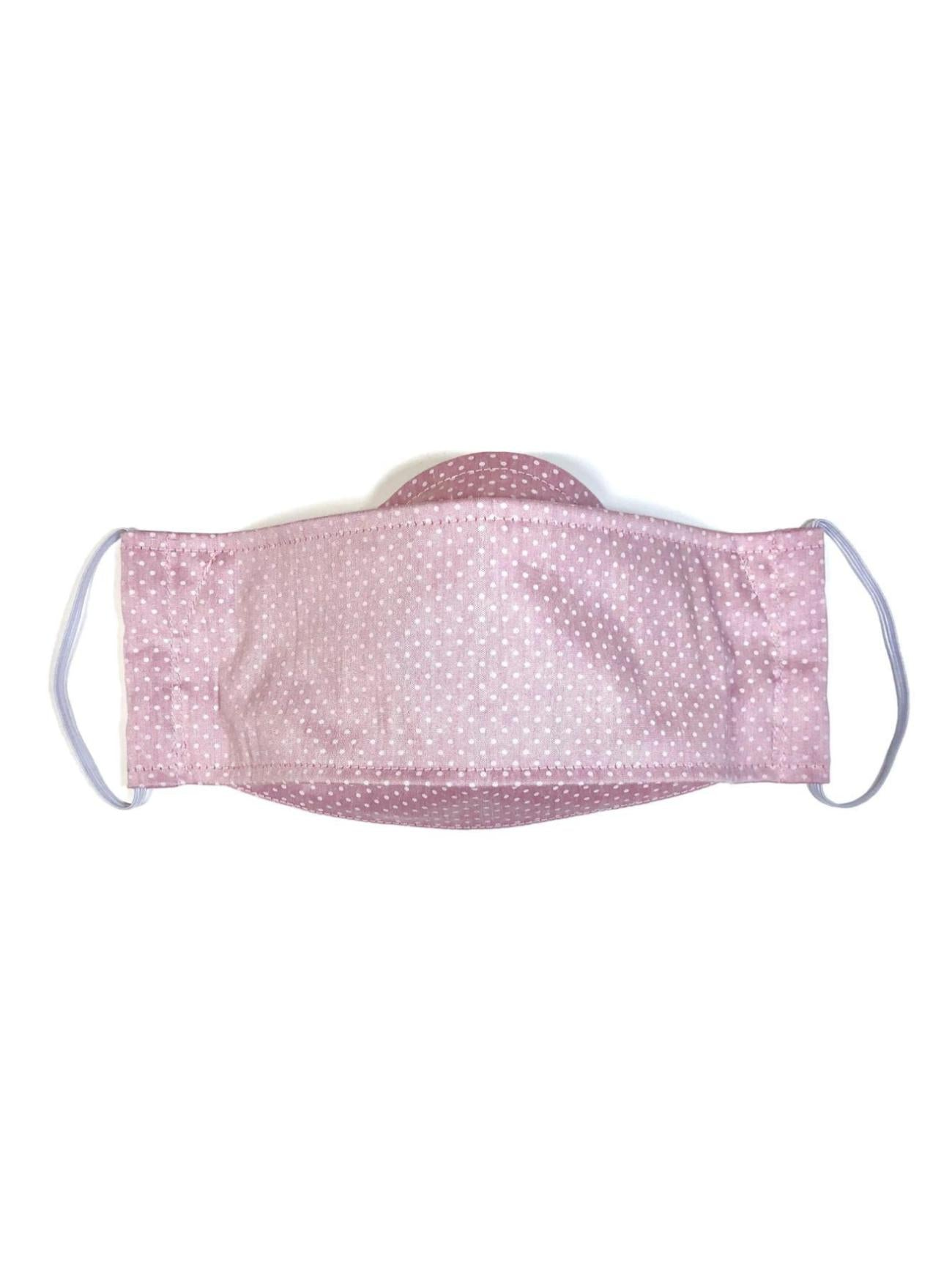 Pink Polka Dot, Child's Reusable Face Mask [3-layers]