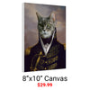 Canvas print pet portrait