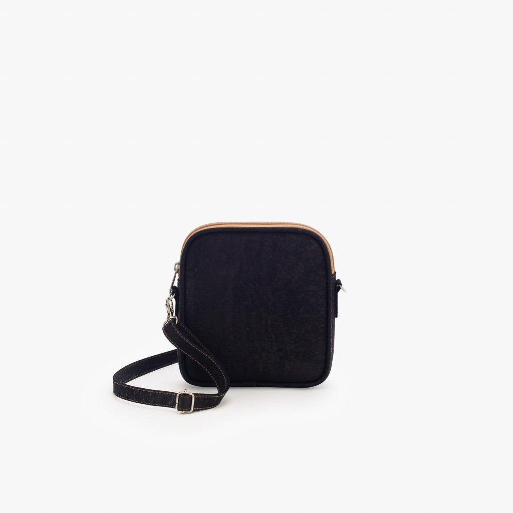 Black Crossbody Bag - Cork Element