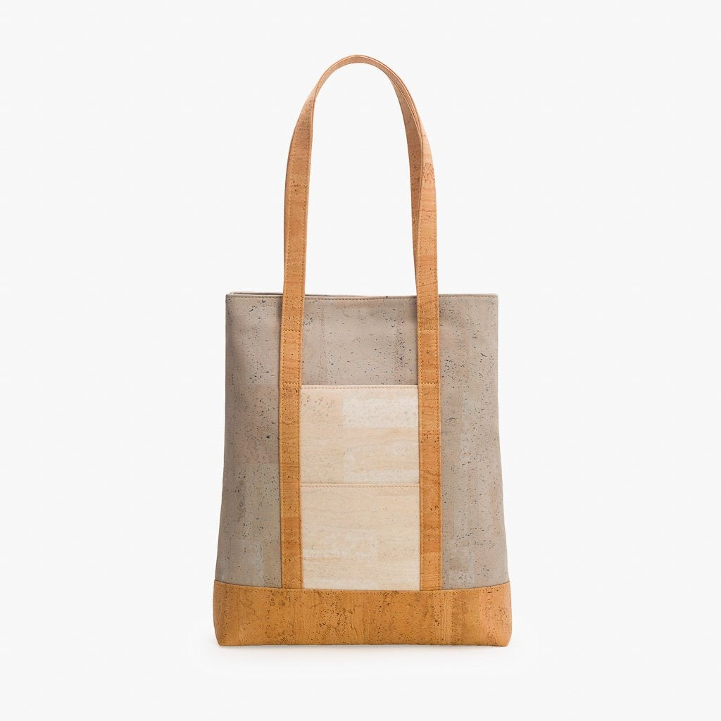 Grey Natural Tote Bag - Cork Element