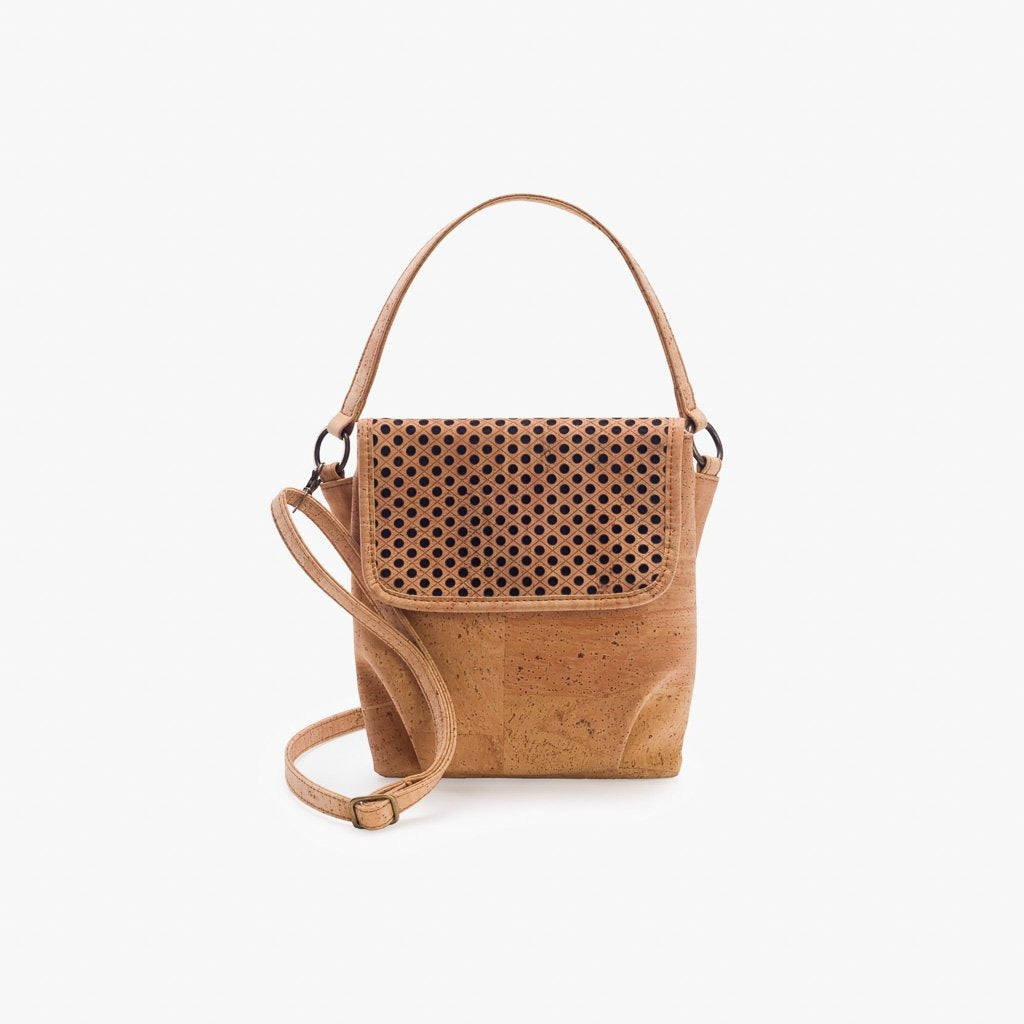 Beige Pattern Crossbody Bag - Cork Element