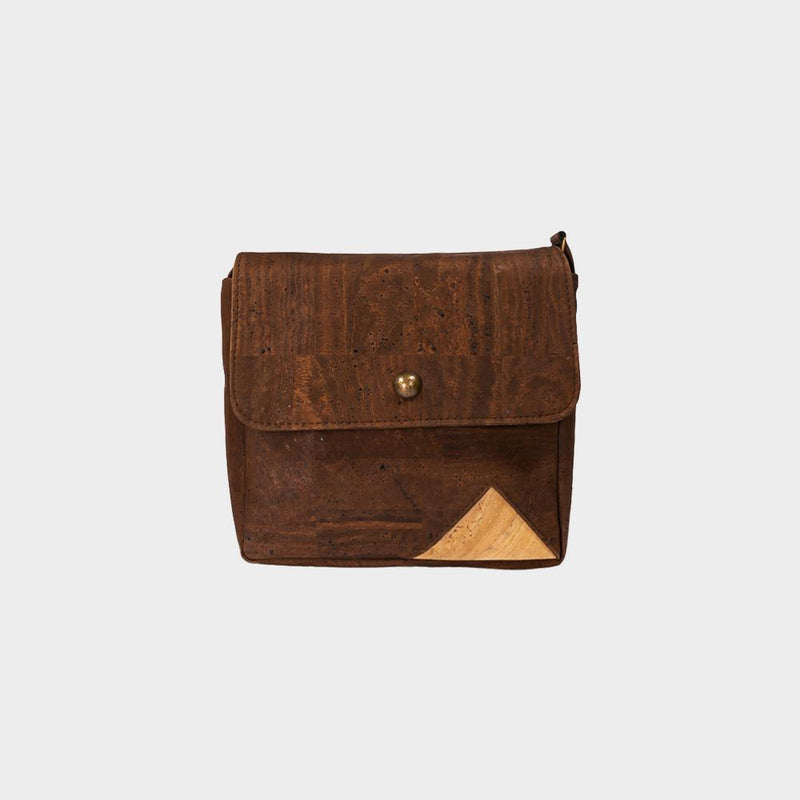 Dark Brown Geometric Bag