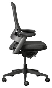 Firefly ergonomic office chair with mesh backrest, adjustable arms, synchronous mechanism and seat depth adjustment