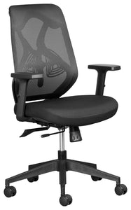 Leila ergonomic office chair with mesh backrest, adjustable arms and lumbar support