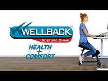 Load and play video in Gallery viewer, Wellback Posture Kneeling Chair