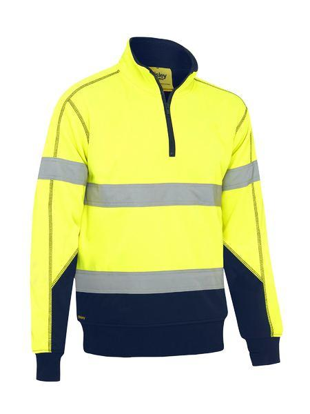 Bisley Taped Hi Vis Fleece Pullover With Sherpa Lining