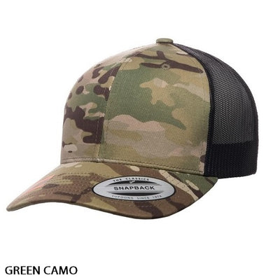 FlexFit Retro Trucker Multicam Cap