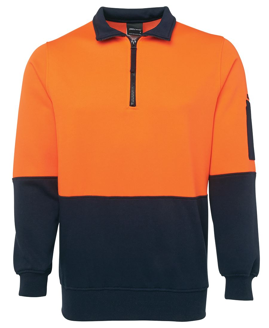 JBs Hi Vis 1/2 Zip Fleecy