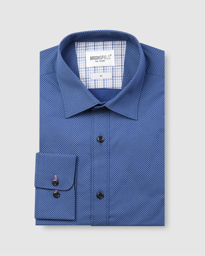 Brooksfield Career Square Print Shirt