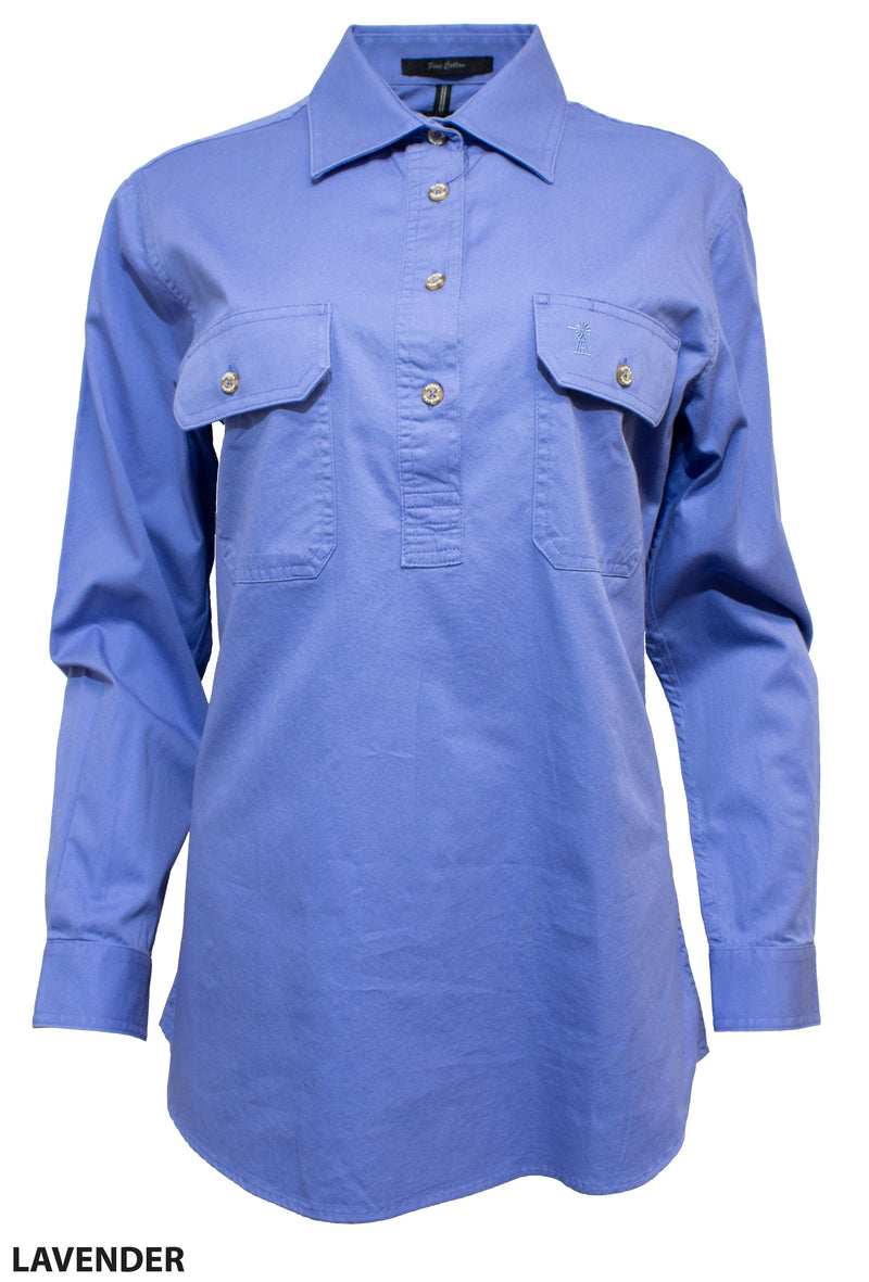Ritemate Womens Pilbara Long Sleeve Closed Front Shirt