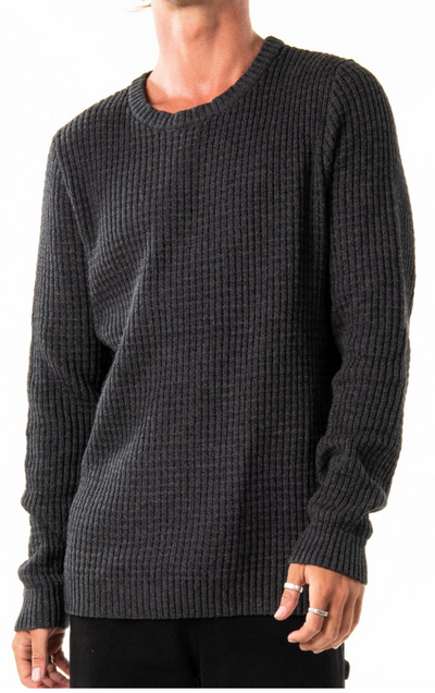 Rusty Miserable Crew Neck Knit