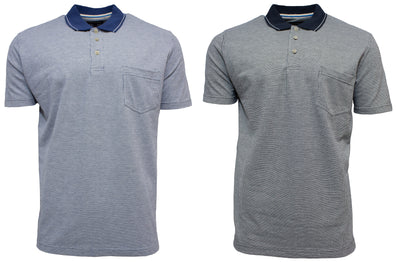 Blue Horizon Poly Cotton Polo