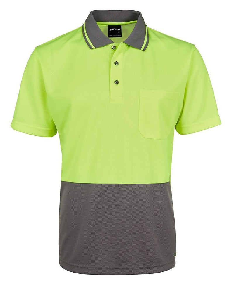 JBs Hi Vis Non Cuff Traditional Polo