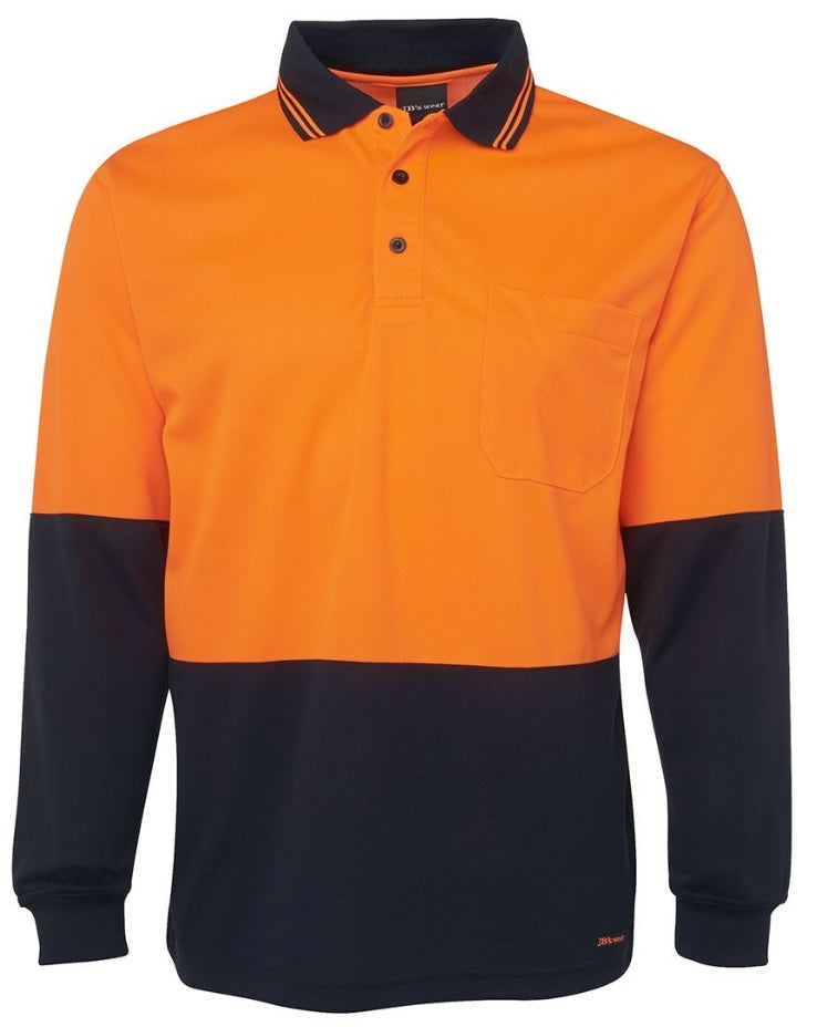 JBs Hi Vis L/S Traditional Polo (4498423840905)