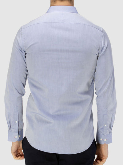 Brooksfield Career Diamond Weave Shirt