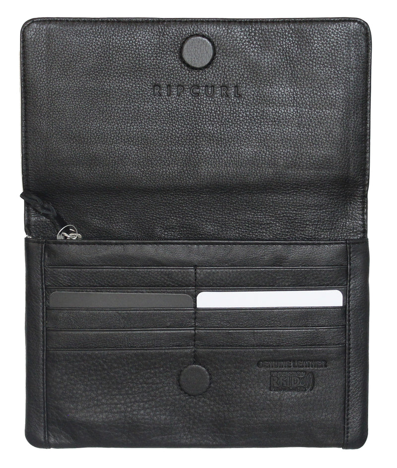 Rip Curl Plains Milled RFID Oversize Leather Wallet