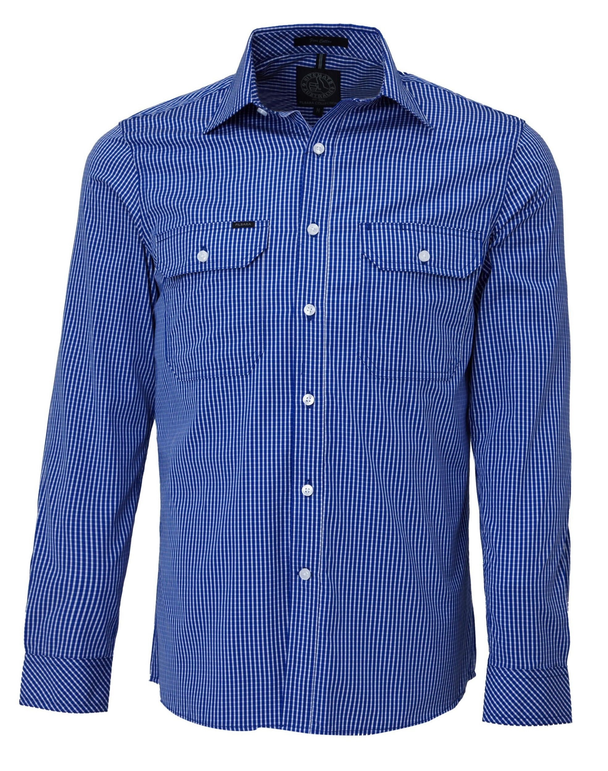 Ritemate Pilbara Check Double Pocket Shirt (4498137481353)