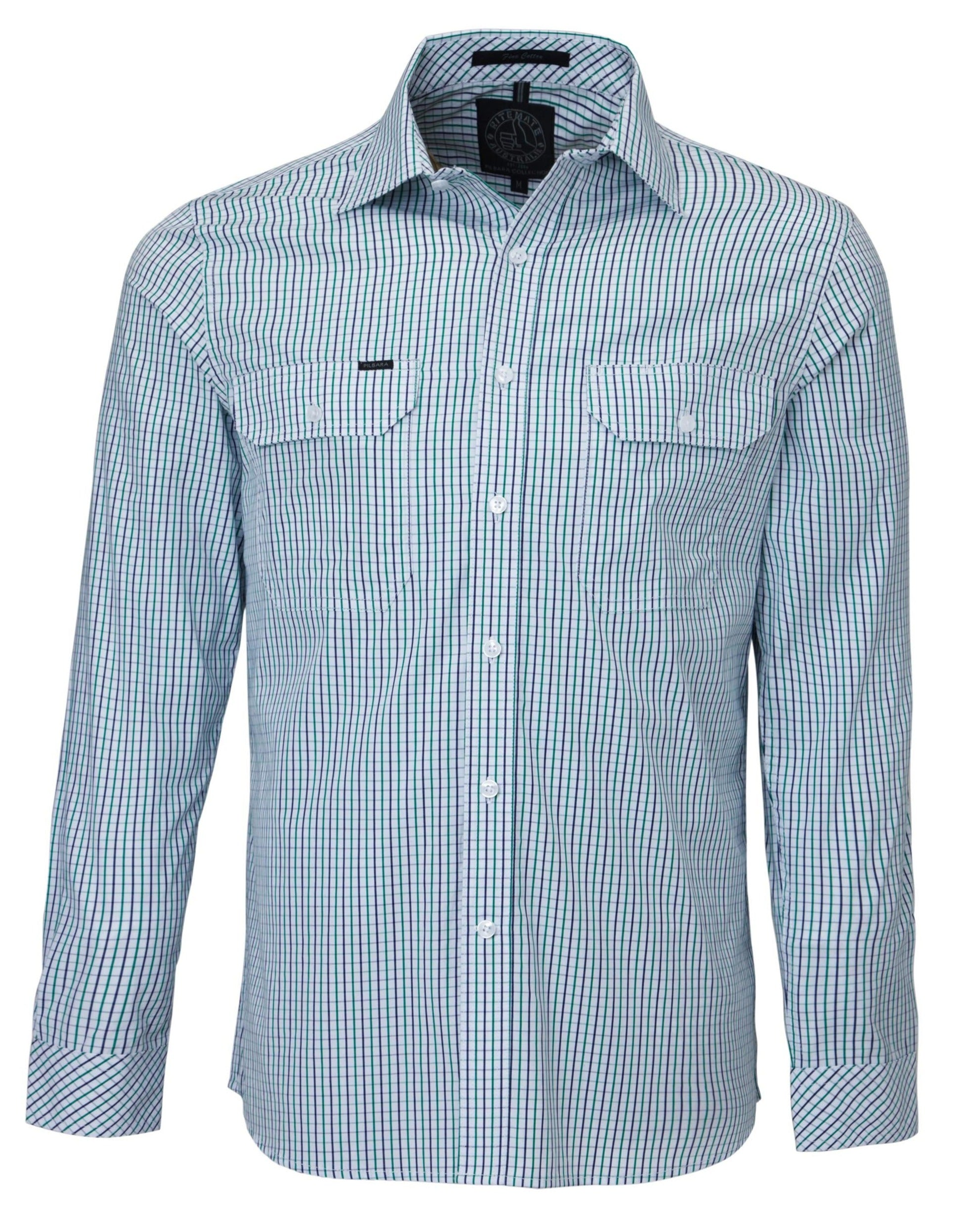 Ritemate Pilbara Check Double Pocket Shirt (4498139414665)