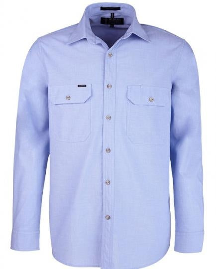 Ritemate Pilbara Chambray Double Pocket Shirt (4498790350985)