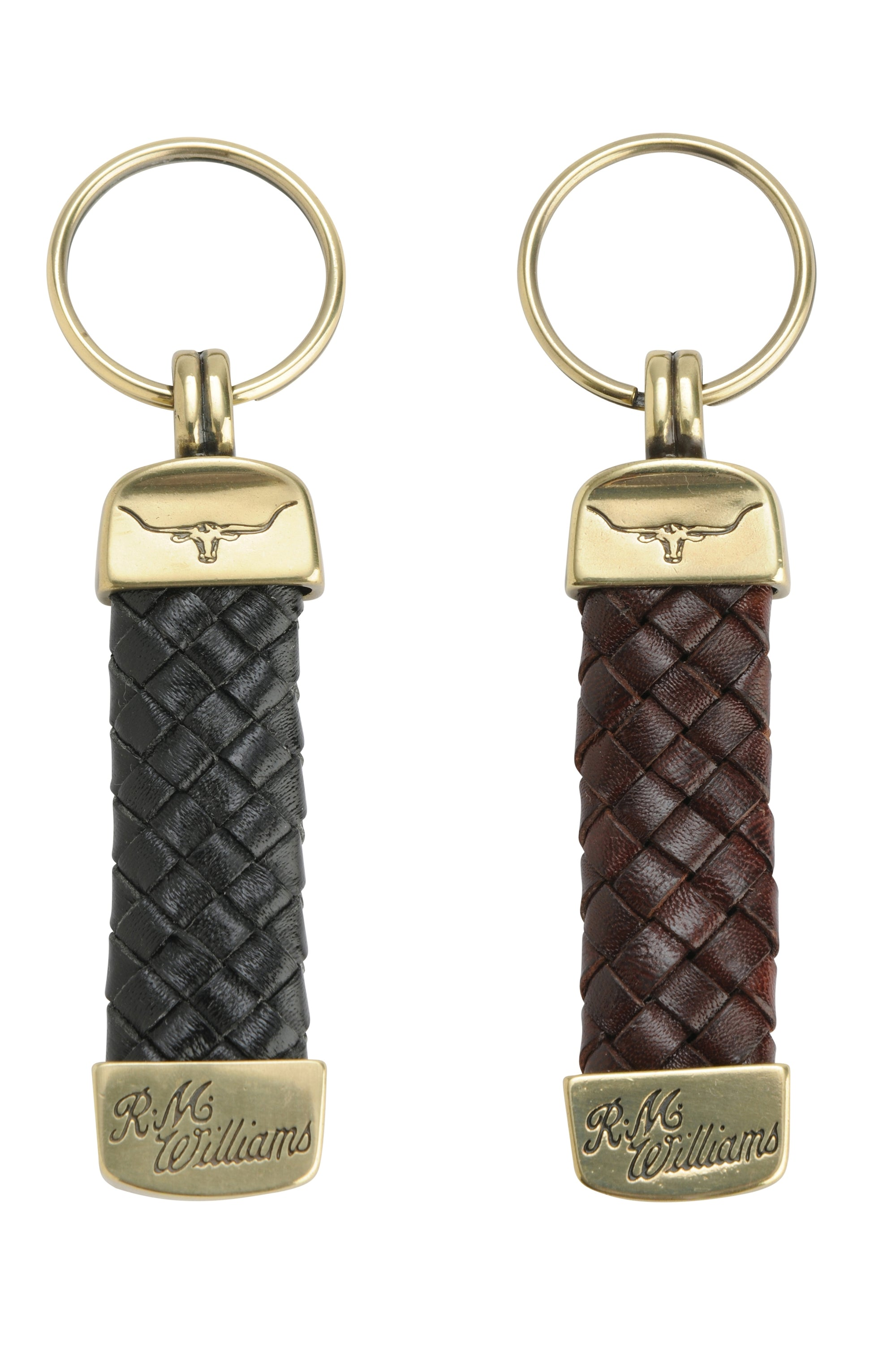 RM Williams Plaited Key Ring
