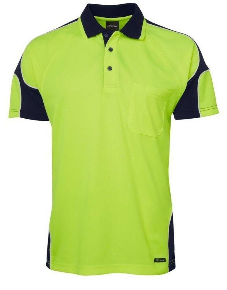 JBs Hi Vis Arm Panel Polo