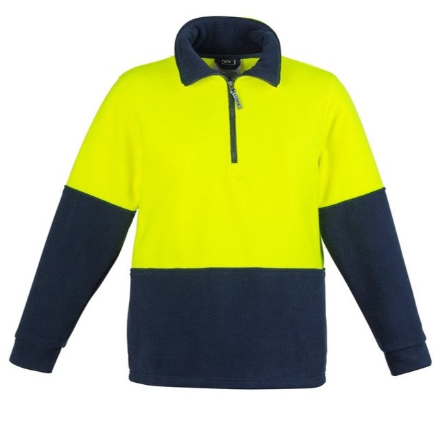 Syzmik Hi Vis Half Zip Polar Fleece Jumper (4498439635081)