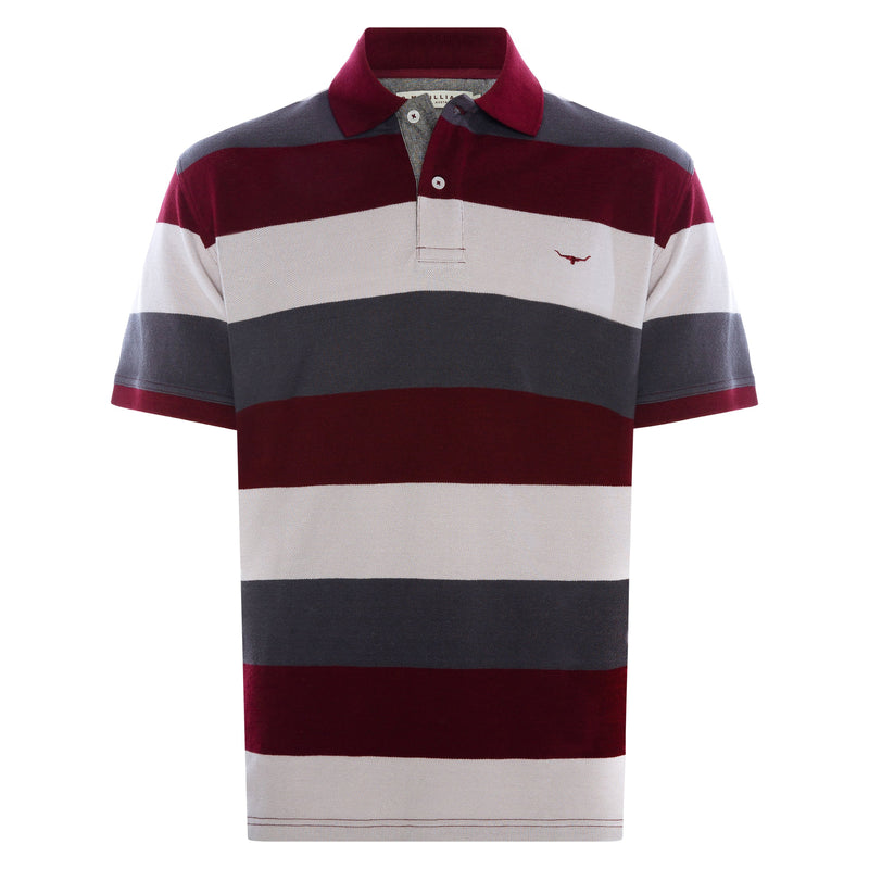 RM Williams Rod Block Stripe Polo (4498975654025)