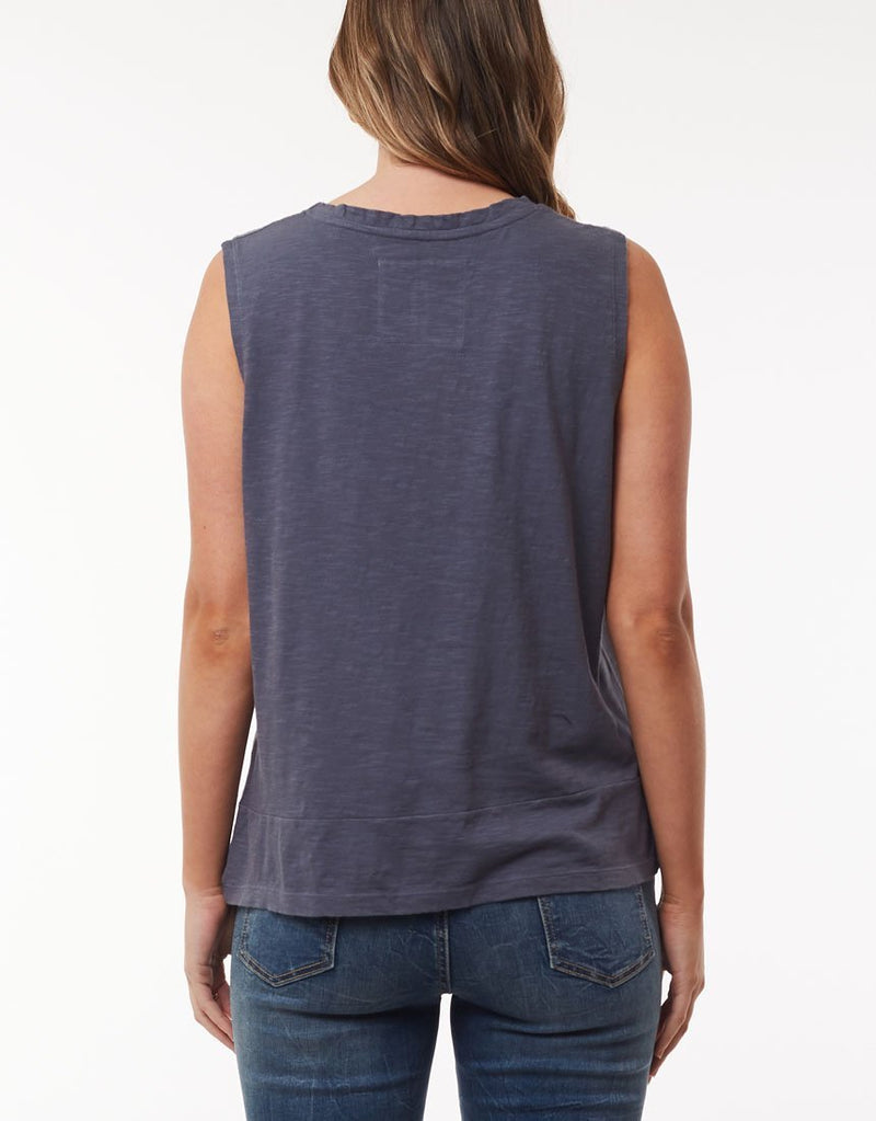 Foxwood Knot Front Crop Tank