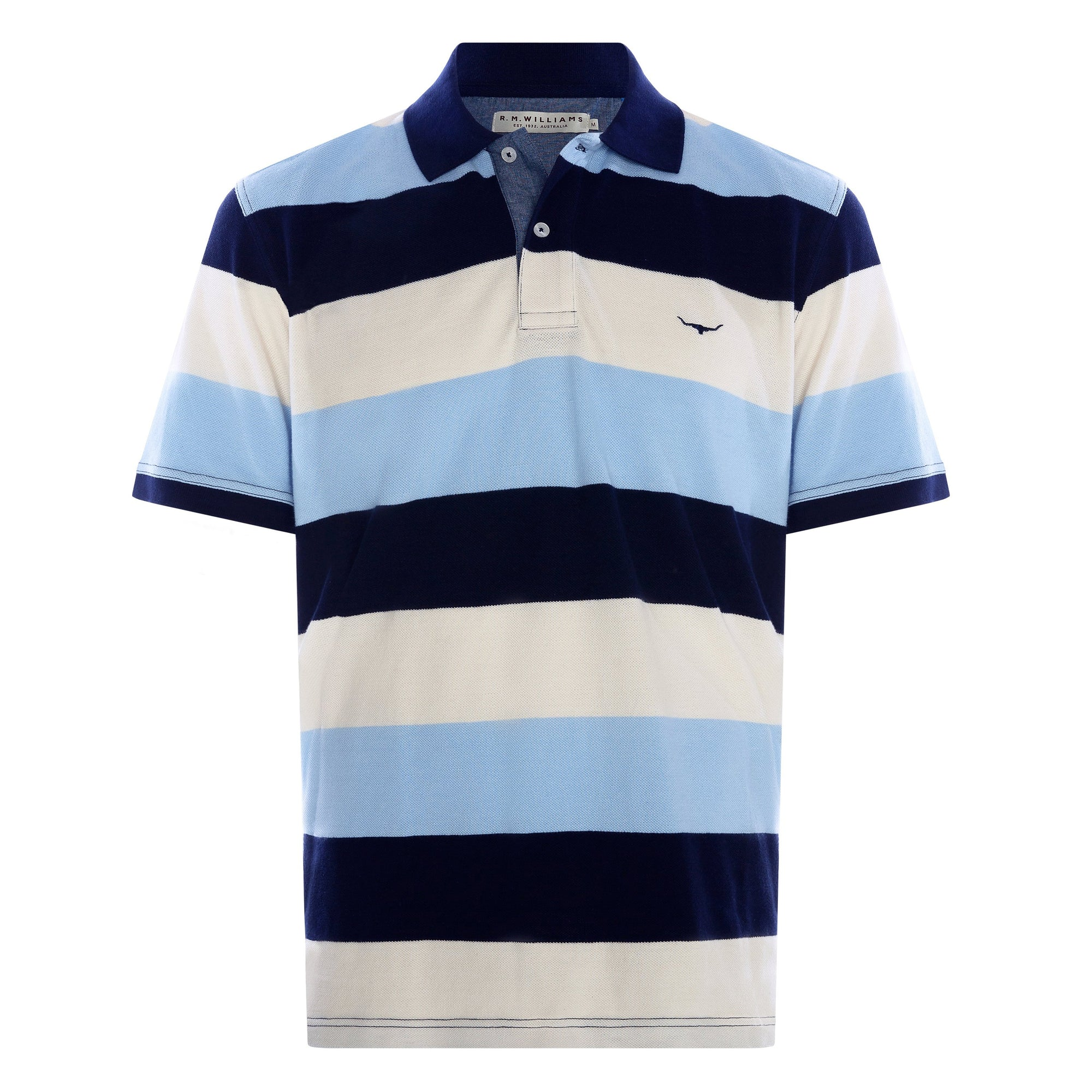 RM Williams Rod Block Stripe Polo (4498978537609)