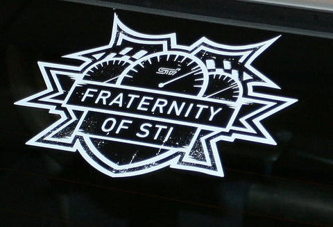 Fraternity of STI decal