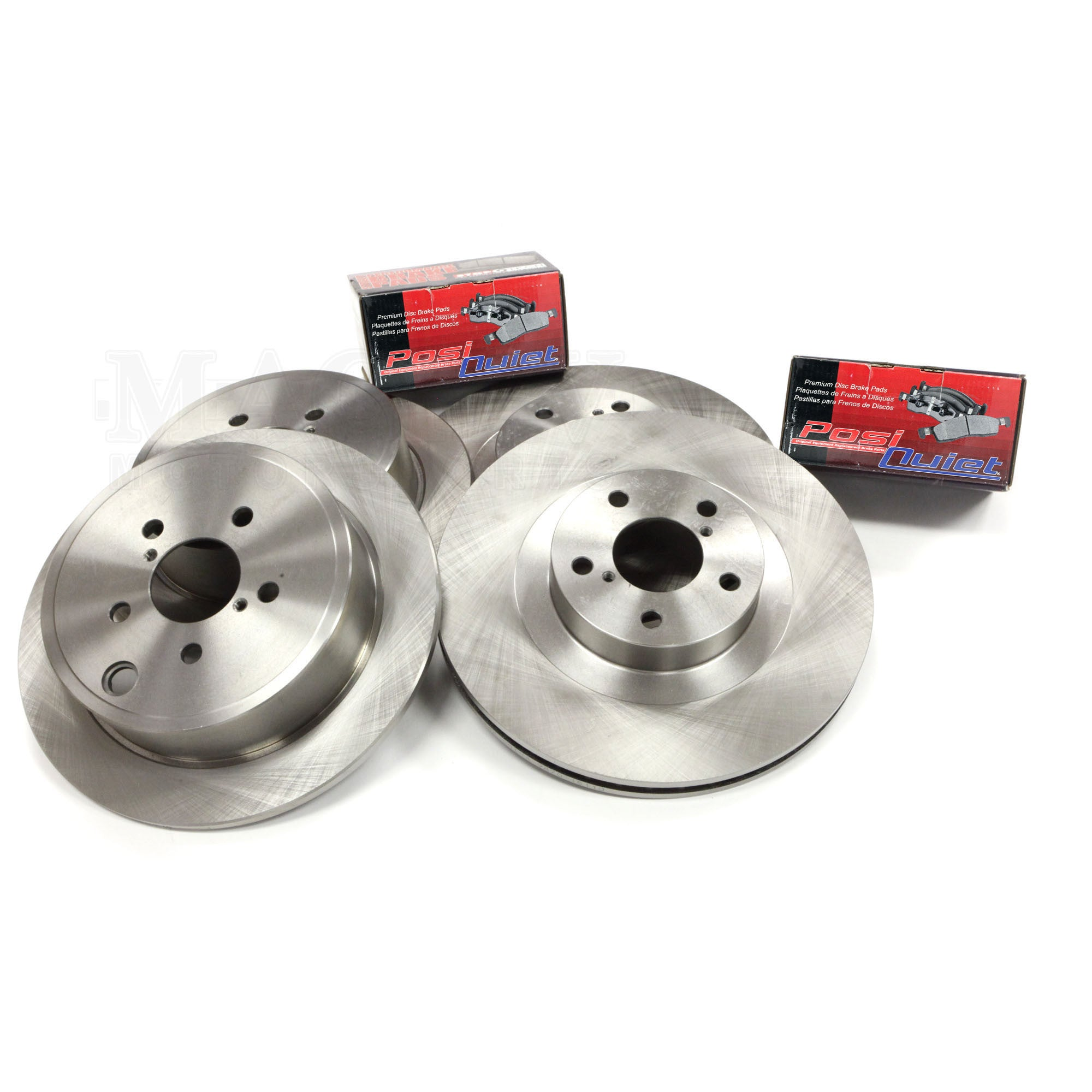 OE Series Rotors + Ceramic Pads KT017042 Max Brakes Rear Premium Brake Kit Fits: 2005 05 Subaru Impreza Wagon w//Rear Disc Brakes