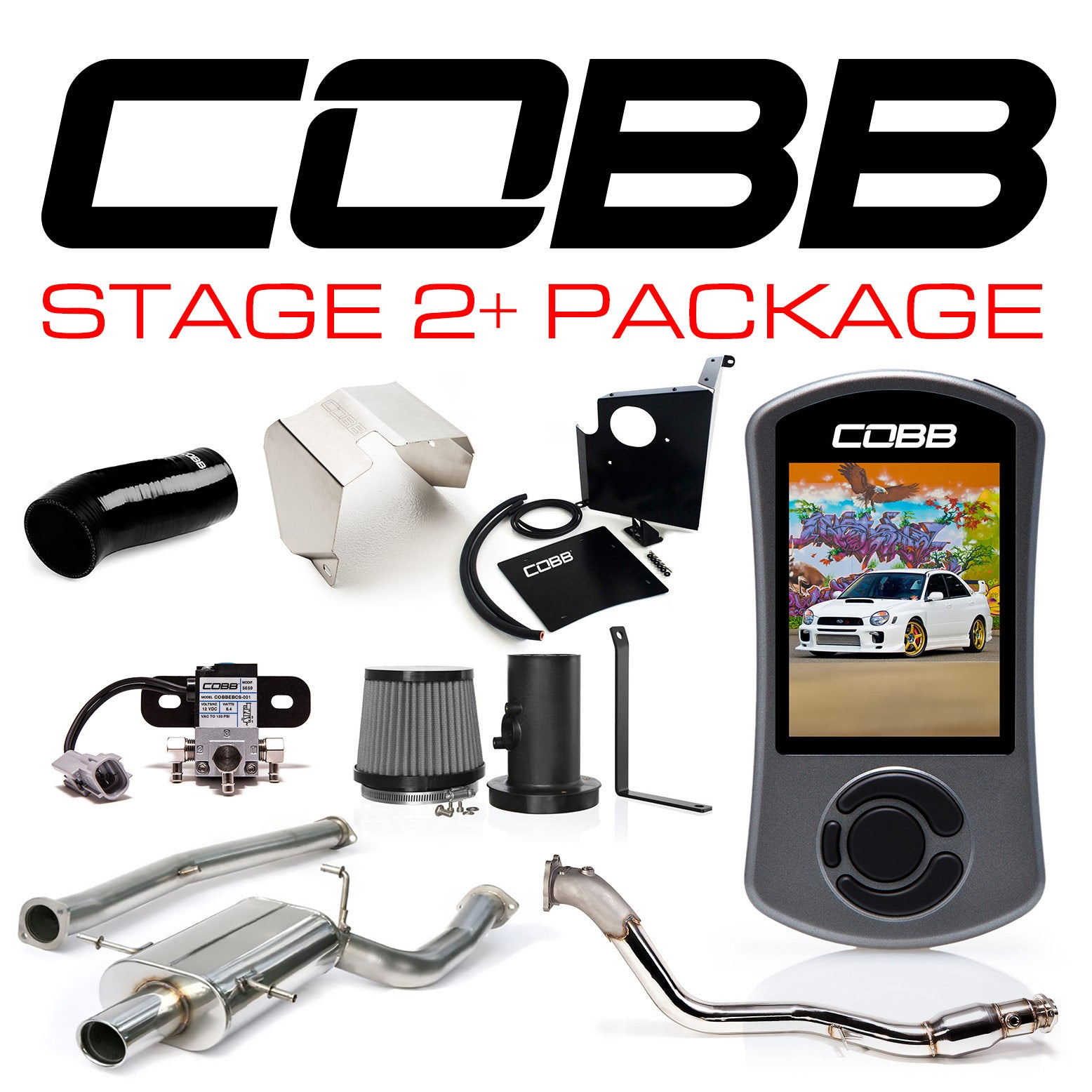 Cobb Stage 2 Power Package With Accessport V3 2002 2005 Wrx Fastwrx Com