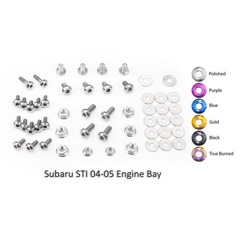 Titanium Engine Bay Dress-Up Bolt Kit 2002-2005 WRX and