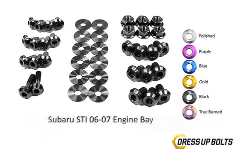 Titanium Engine Bay Dress-Up Bolt Kit 2006-2007 WRX and