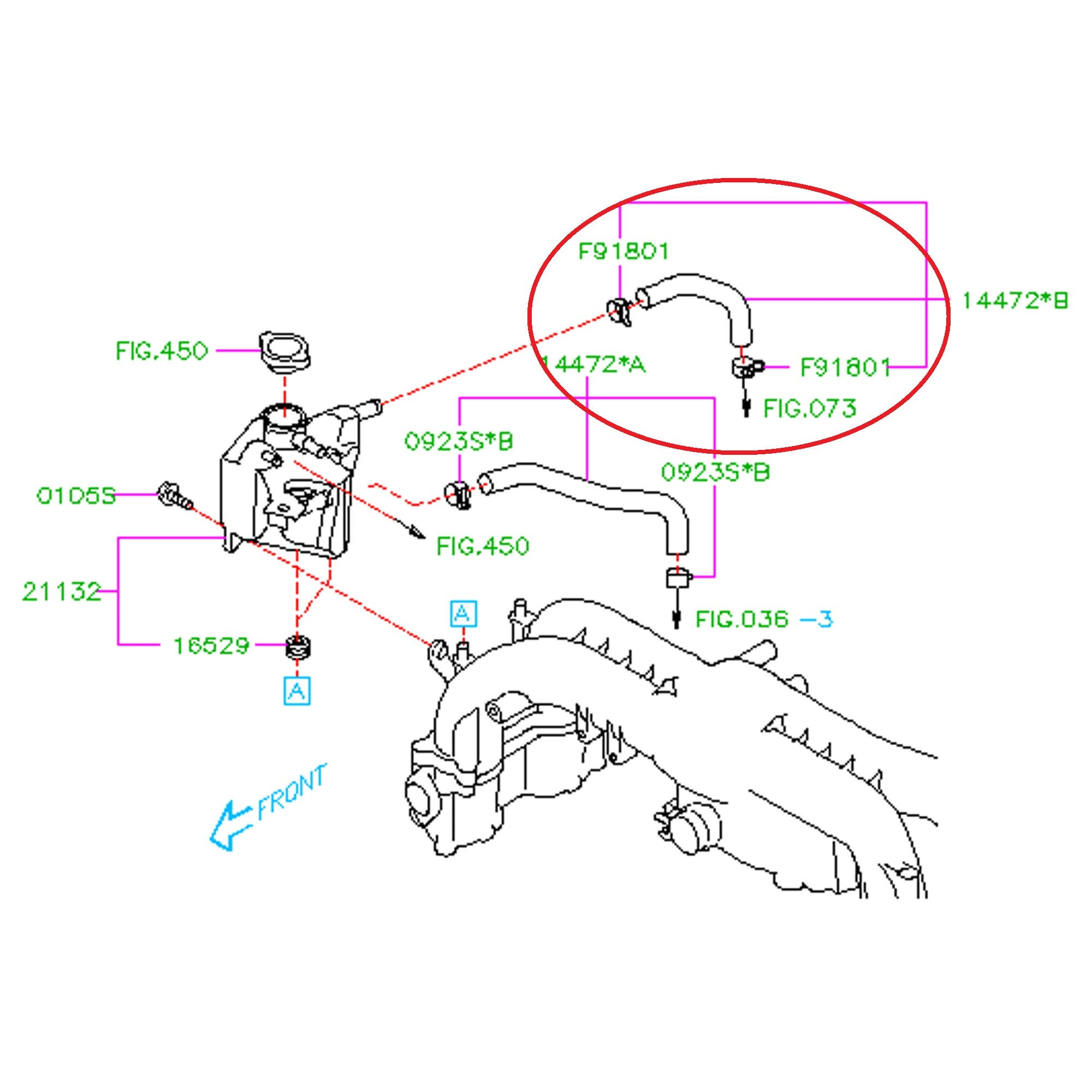 Subaru Engine Cooling Diagram Worksheet And Wiring 2001 2008 2014 Wrx Turbo To Expansion Tank Hose Fastwrx Com Rh Outback Block