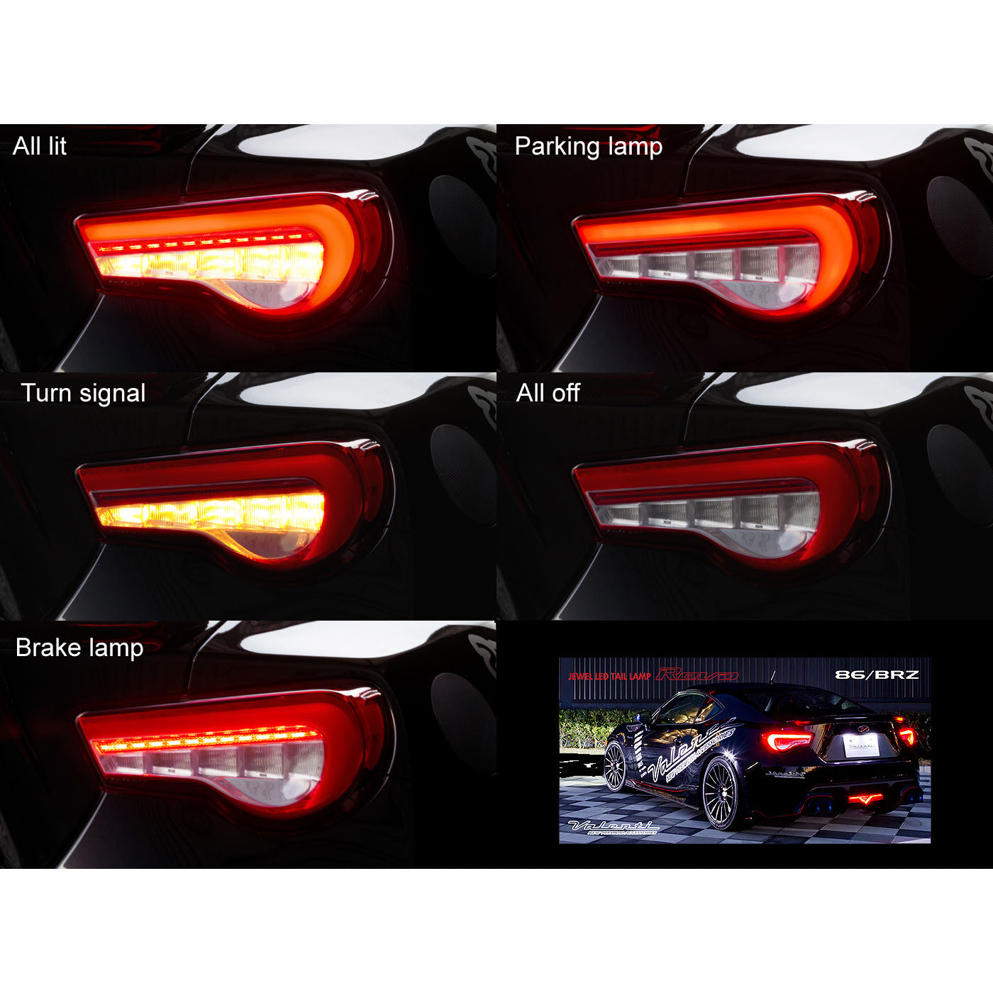 Valenti REVO Sequential LED Tail Lamps 2013+ BRZ/FR-S