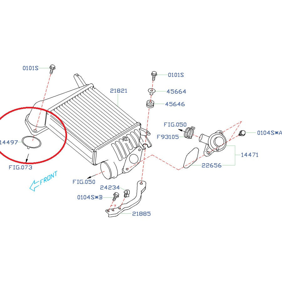 Engine Maintenance Subaru Replacement Parts Tagged Gv Ej20 Diagram Intercooler To Turbo O Ring 2008 2014 Wrx