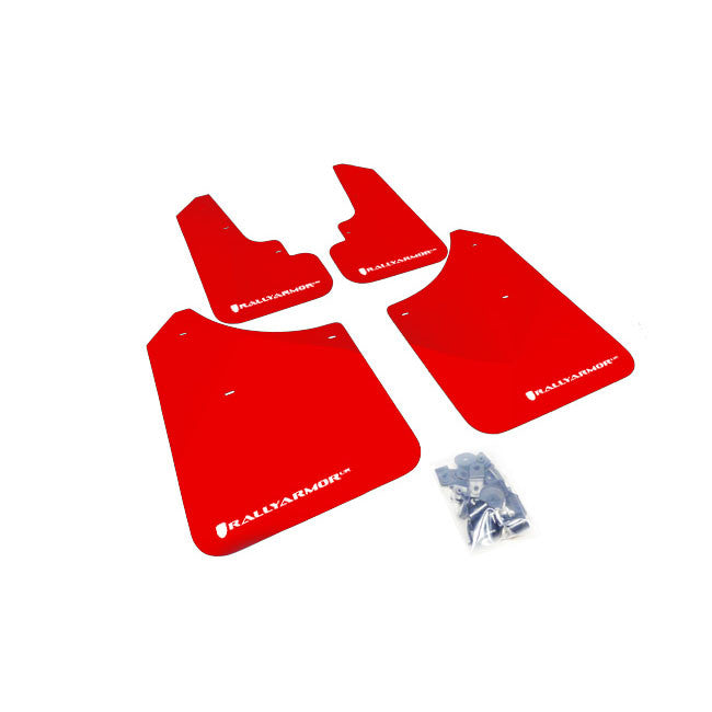 Rally Armor UR RALLY MUD FLAP Red logo FOR FORESTER 2003-07