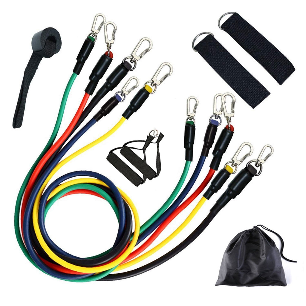 11pcs Workout Strength Trainer Resistance Band Set