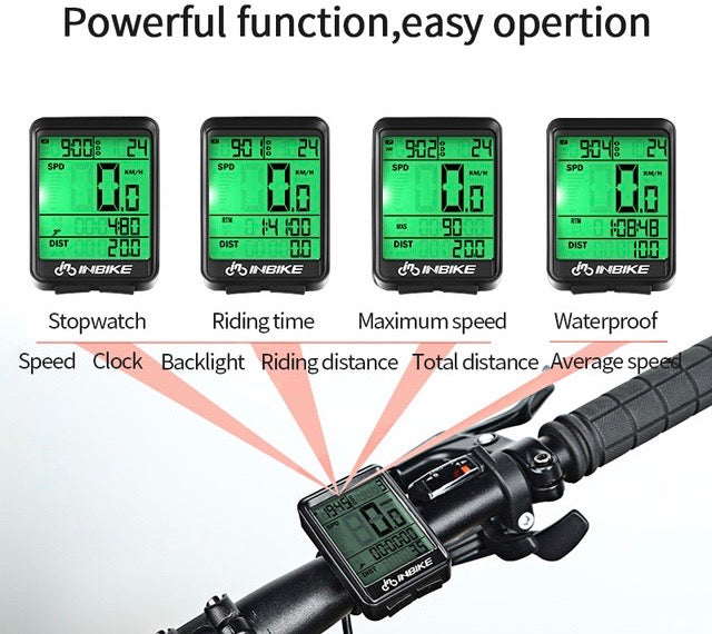 Rainproof MTB Bike Bicycle Speedometer Wireless Wired Odometer Cycling Watch Measurable Stopwatch