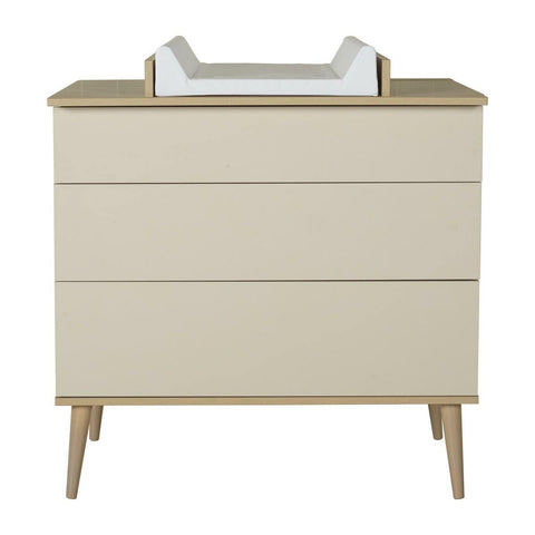 Quax Commode avec plan à langer optionnel Flow Clay & Oak